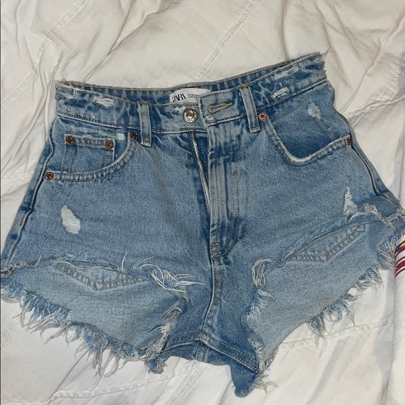 Zara High-Rise Denim Shorts
